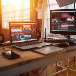 Freelance desktop with laptop computer and monitor review for ed